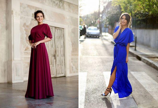 длинные модные платья на каждый день