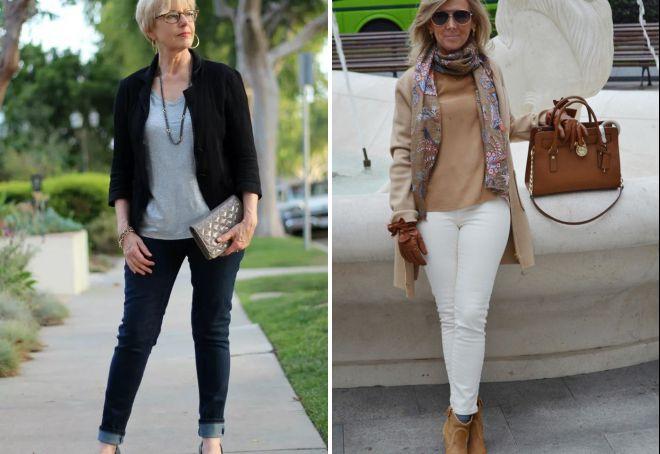 повседневная одежда для женщин 50 лет
