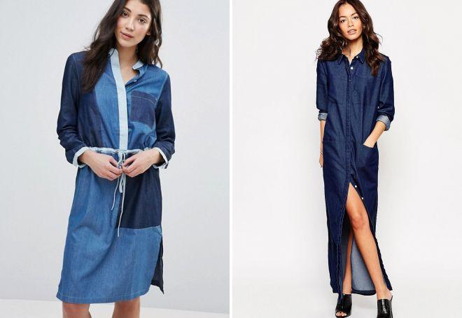 a3316aeb402 Модные джинсовые платья 2017 года – стильная рубашка и оригинальный ...