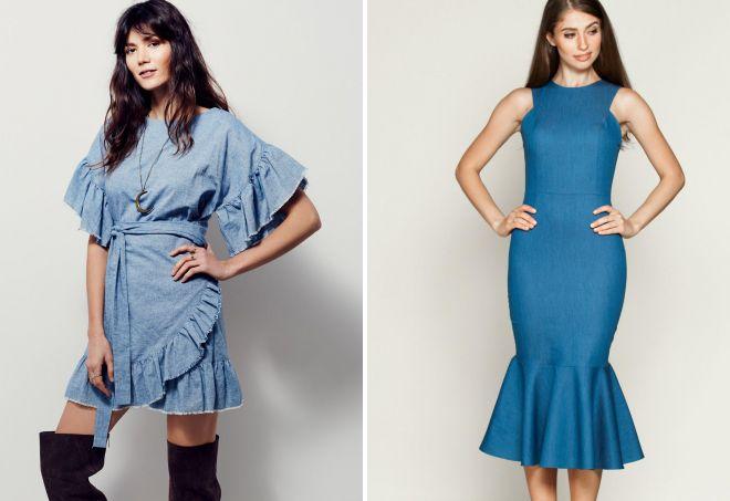4f67cc2e45f Модные джинсовые платья 2017 года – стильная рубашка и оригинальный ...