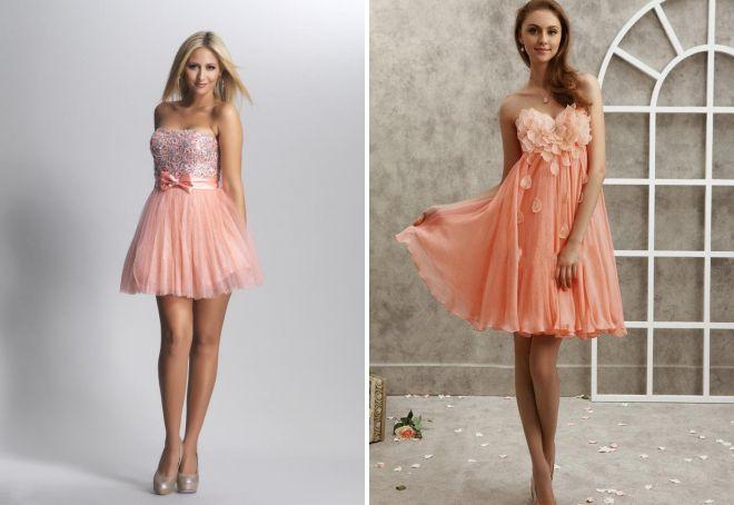 7956f977425 Модное персиковое платье – вечернее и коктельное