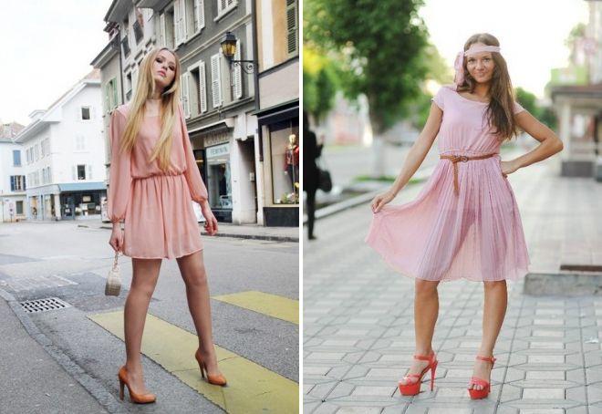 какие туфли подойдут к персиковому платью