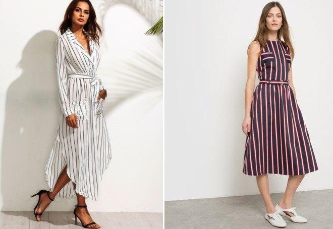 f488a495fb1f Летнее платье в полоску – вертикальную и горизонтальную, длинное в ...