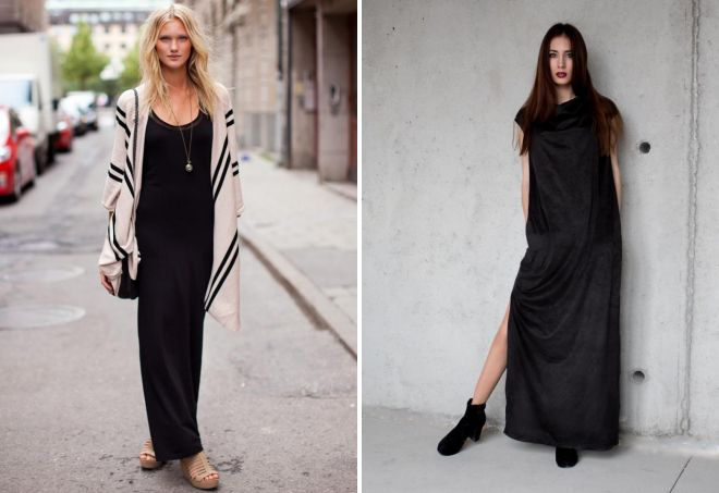 прямые платья в пол