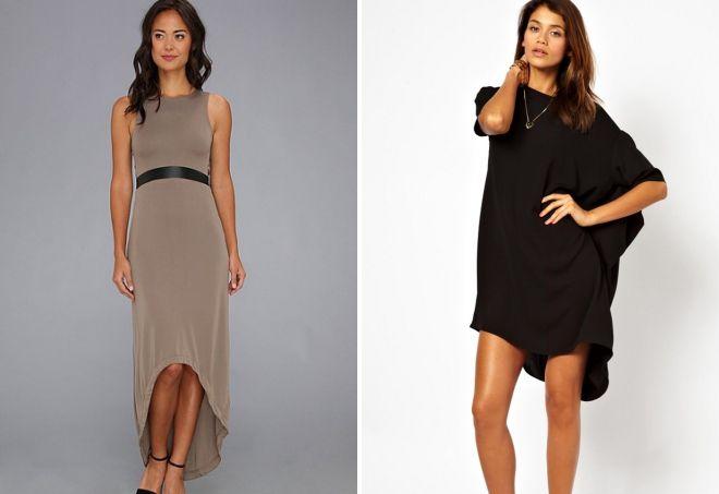 трикотажное прямое платье