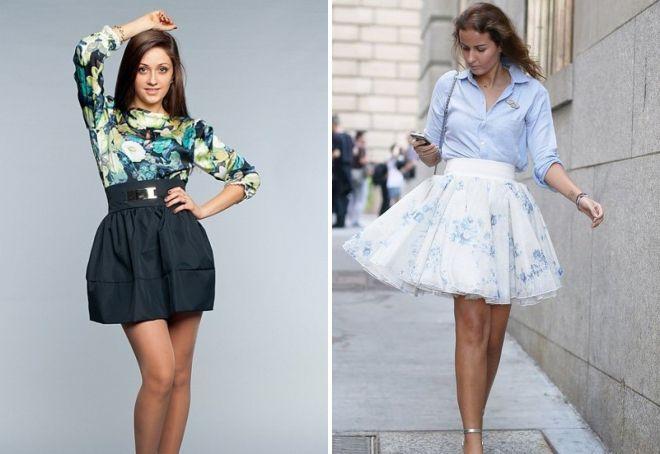 пышные юбки с высокой талией