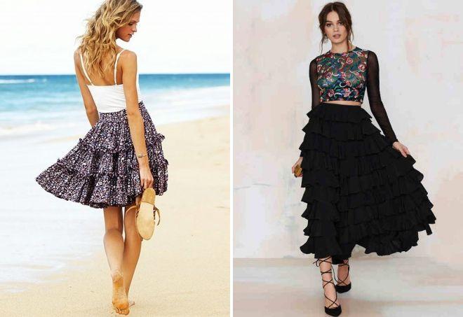 пышные женские юбки