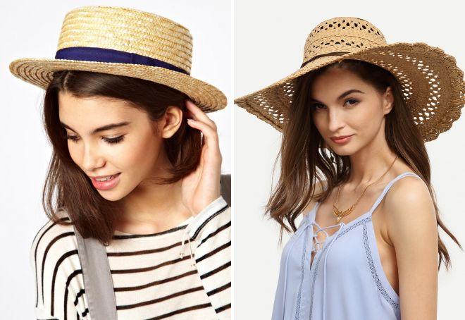 летние женские соломенные шляпы