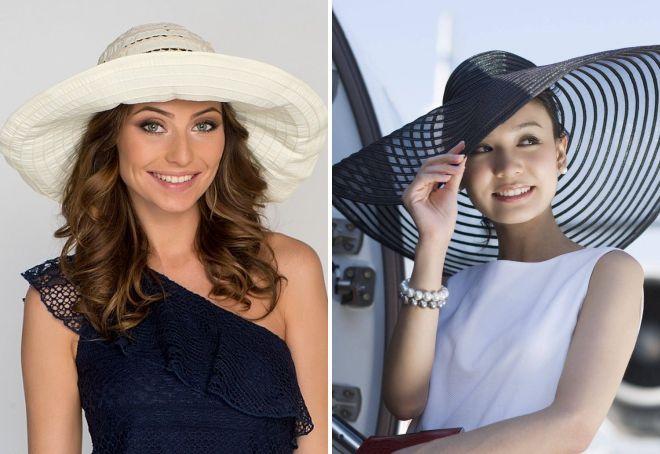 женские летние шляпы с полями