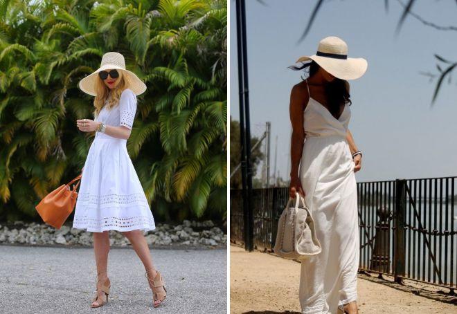 с чем носить шляпу летом