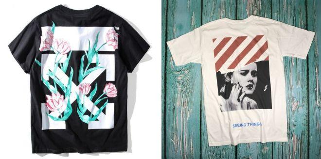 сколько стоит оригинальная футболка off white