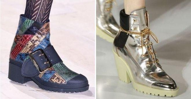 ботинки на тракторном каблуке 2017