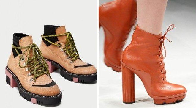 ботинки на каблуке с тракторной подошвой 2017