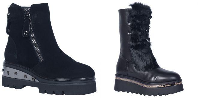 ботинки зимние на тракторной платформе