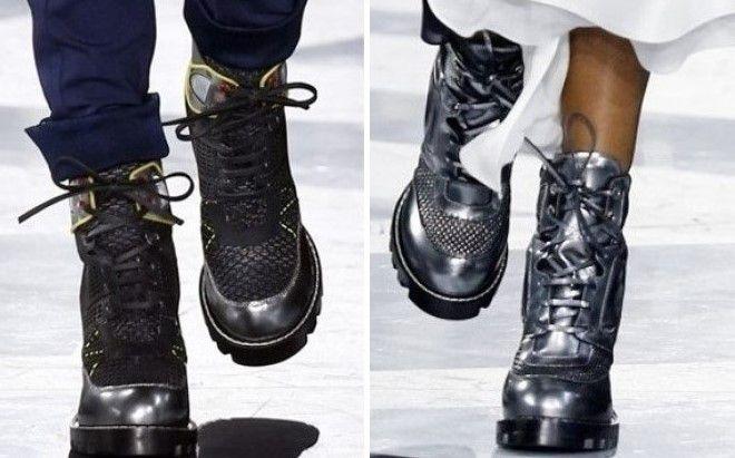 черные ботинки на тракторной подошве