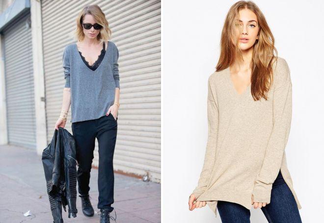 вязаный кашемировый свитер