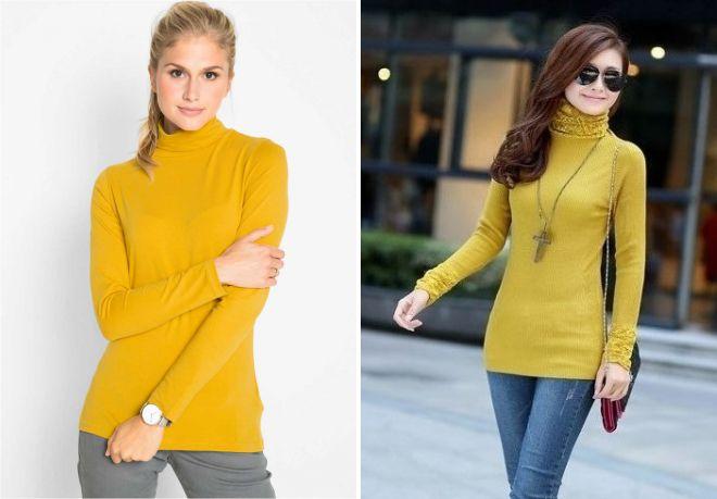 желтый свитер лапша