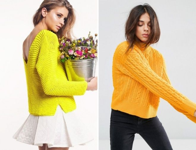 свитер желтого цвета 2017