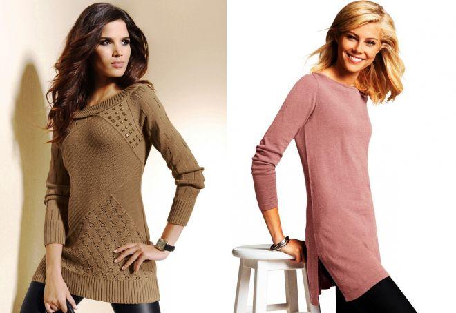 удлиненные женские свитера