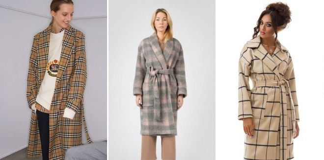 Beige Check Coat