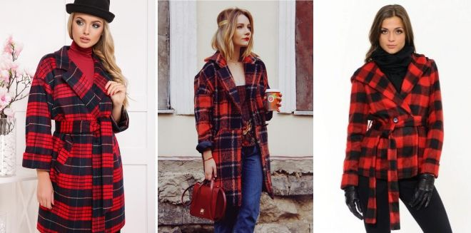 Red Plaid Coat