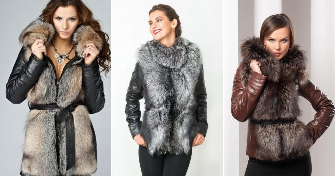 Fur skinn jakki