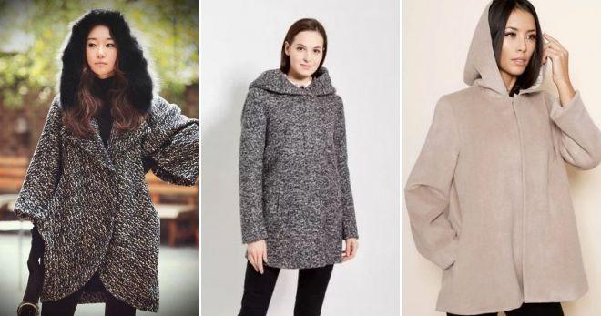 Hooded Boucle Coat
