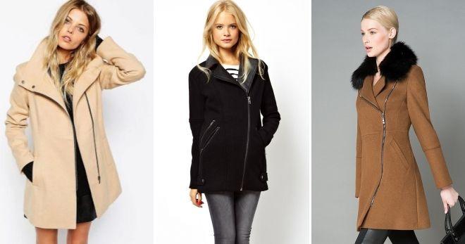 Abrigo de moda con una cremallera