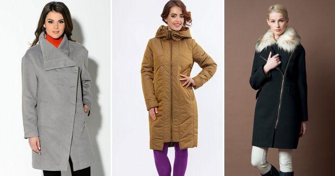 Женское драповое пальто на молнии