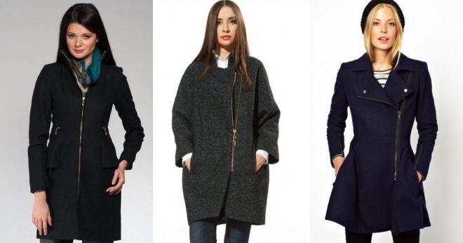 Пальто с молниями по бокам 2019