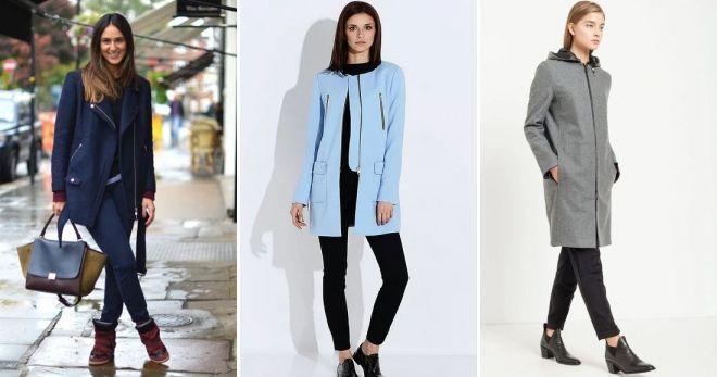 С чем носить пальто на молнии кэжуал