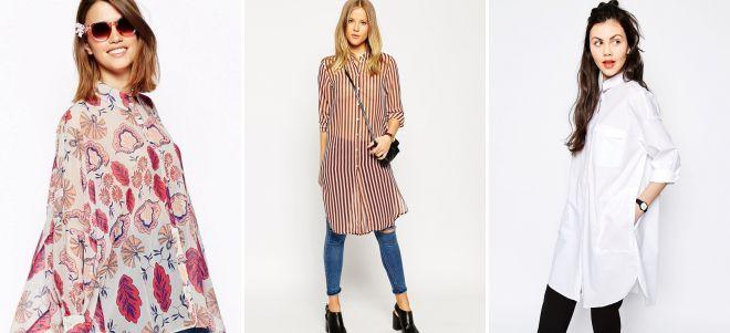 модные блузки туники 2018
