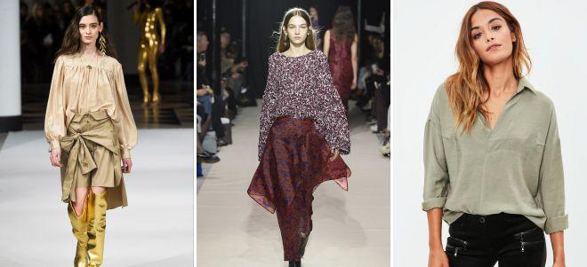 свободные блузки 2018