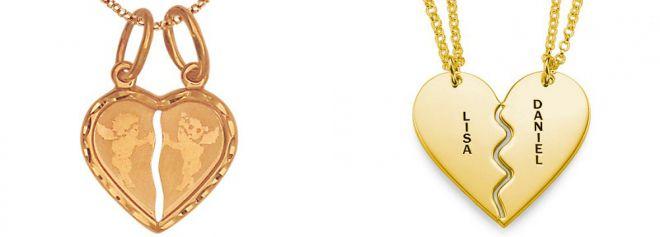кулоны из золота д влюбленных
