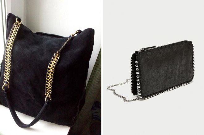черная сумка зара