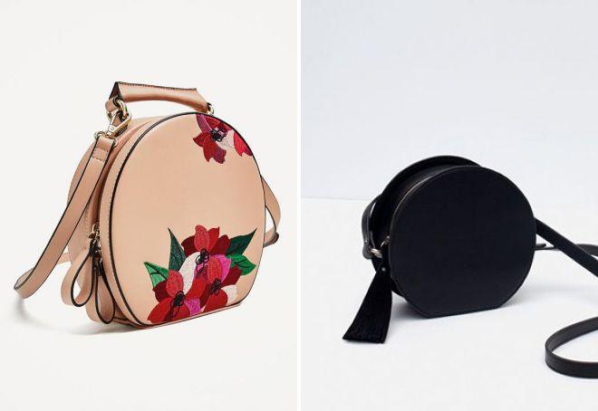 круглая сумка zara