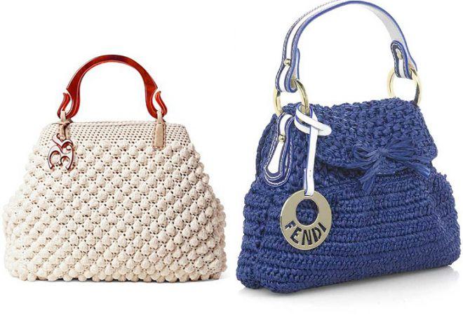 стильная сумка саквояж из трикотажной пряжи