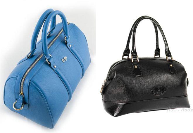 женская сумка саквояж из кожи