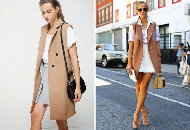женские модные удлиненные жилеты