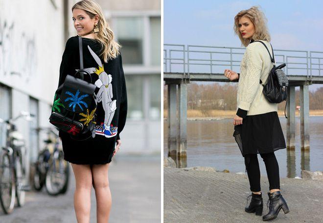 Кожаный рюкзак с декоративным оформлением