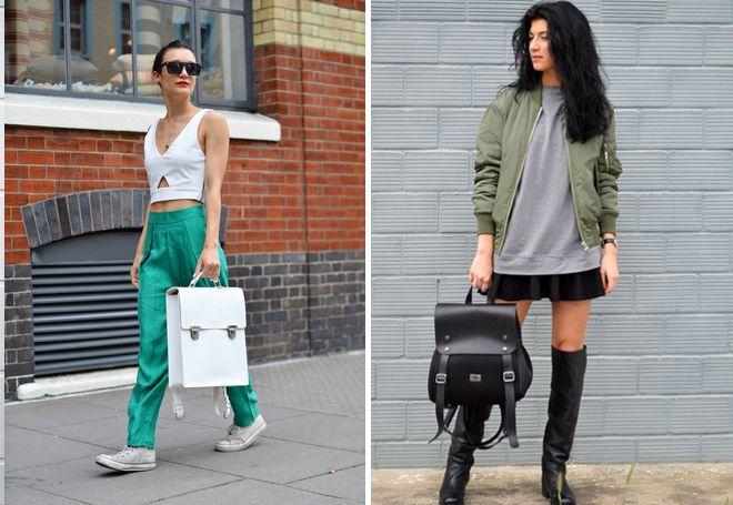 Классический женский кожаный рюкзак