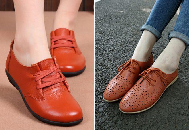 туфли без каблука 2018