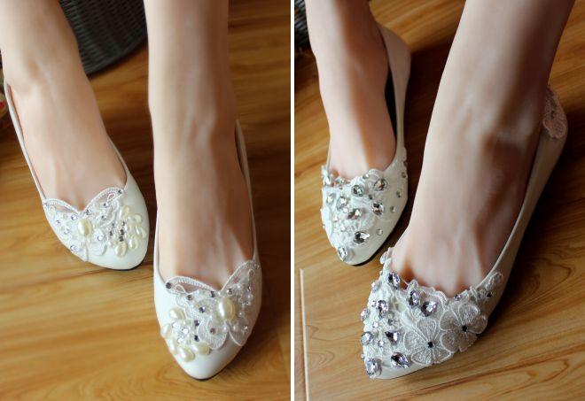 туфли на свадьбу без каблука