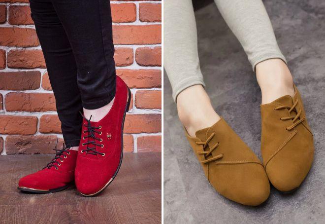 женские туфли без каблука 2018