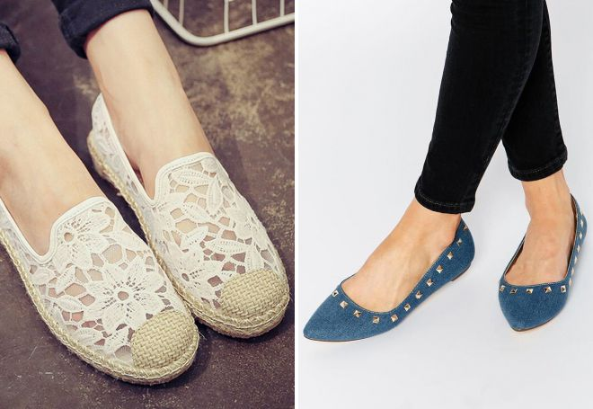 красивые туфли без каблука