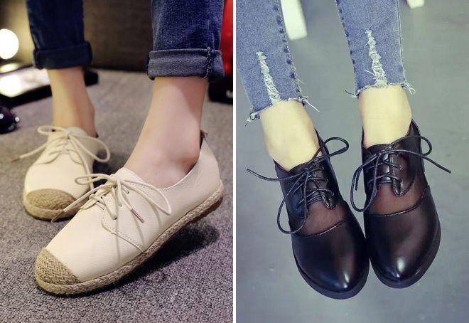 модные туфли без каблука 2018