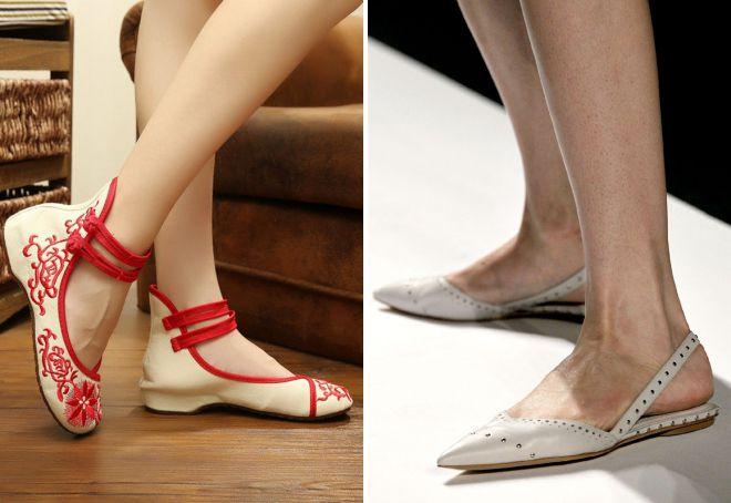 женские летние туфли без каблука