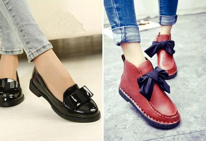 демисезонные туфли без каблука
