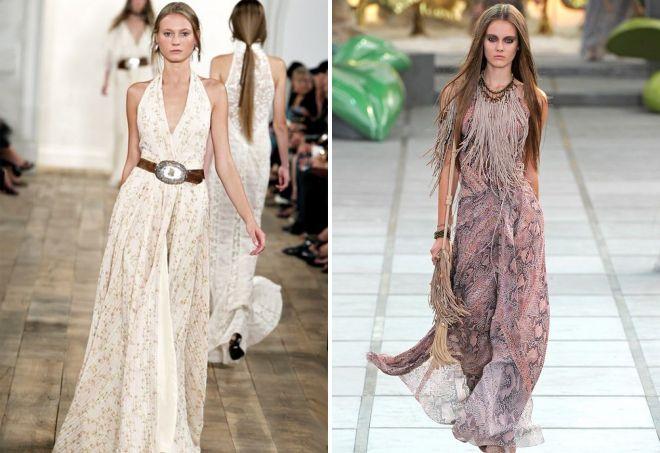 вечерние платья в стиле кантри