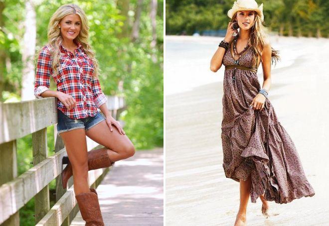 стиль кантри в одежде для девушек